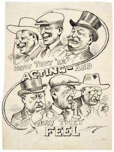 Taft TR and Wilson cartoon