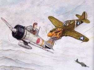 ww2 airplane cartoon