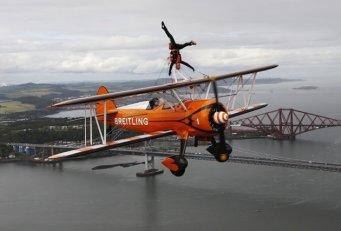 biplane stunt